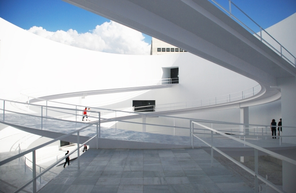 Museo de la Memoria de Andalucía en Granada, la obra más reciente del arquitecto. foto: Javier Callejas