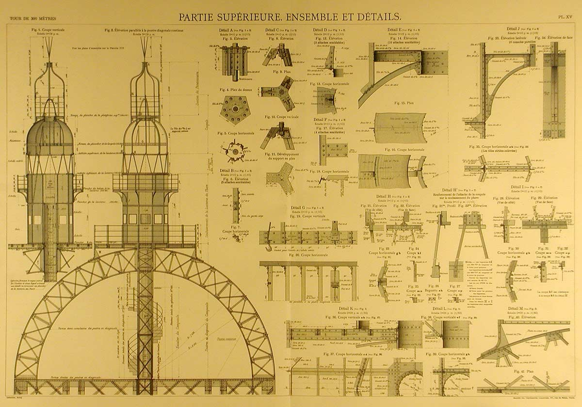 blueprints of the eiffel tower arkinet. Black Bedroom Furniture Sets. Home Design Ideas
