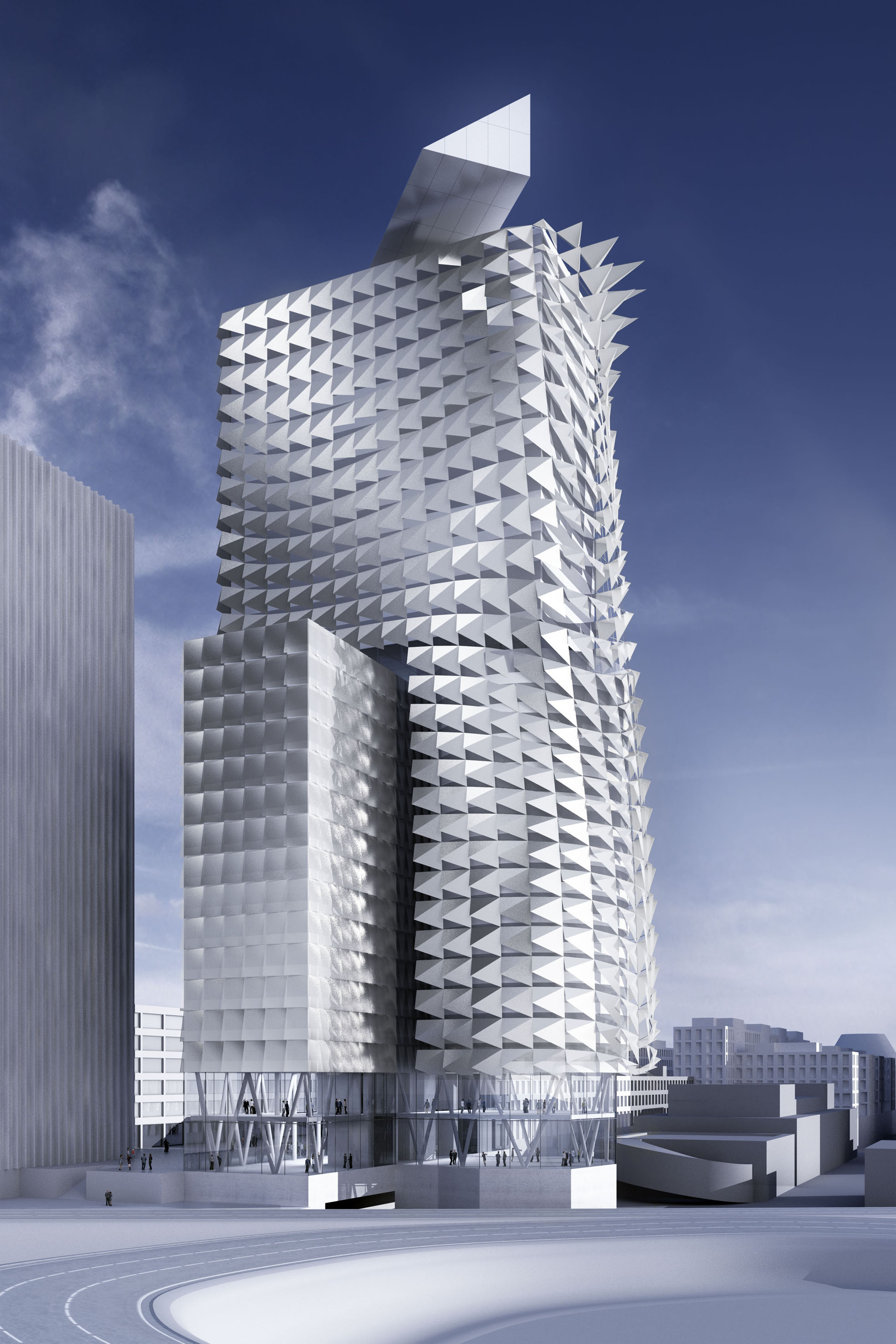 Sustainability town town office tower vienna austria by for Prix architecte