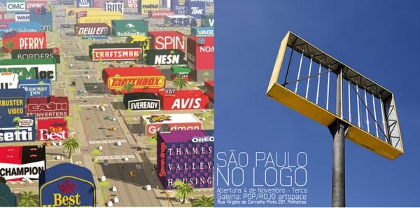 Left: Still from Logorama   Right: Poster for Tony de Marco's São Paulo No Logo Exhibition